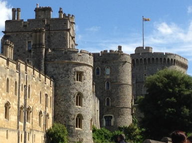 The Royal Standard flying over Windsor Castle