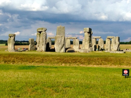 Stonehenge in the late afternoon.