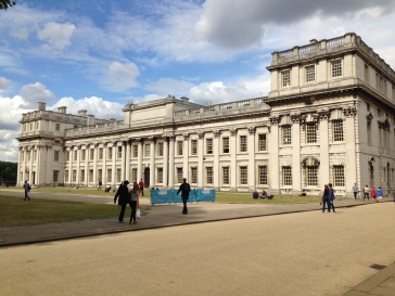 The grounds of the Old Royal Naval College.