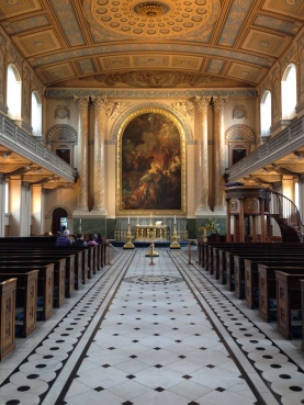 The stunning interior of the chapel.