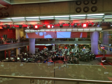 The BBC newsroom.